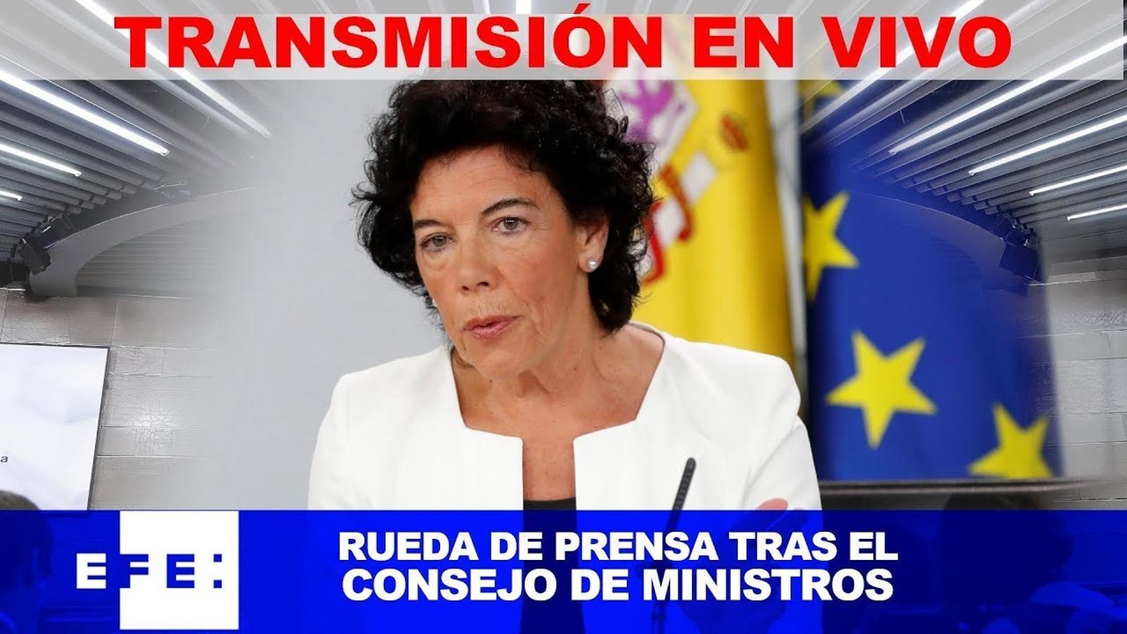 EN DIRECTE: Roda de premsa del consell de ministres amb la presentació dels pressupostos