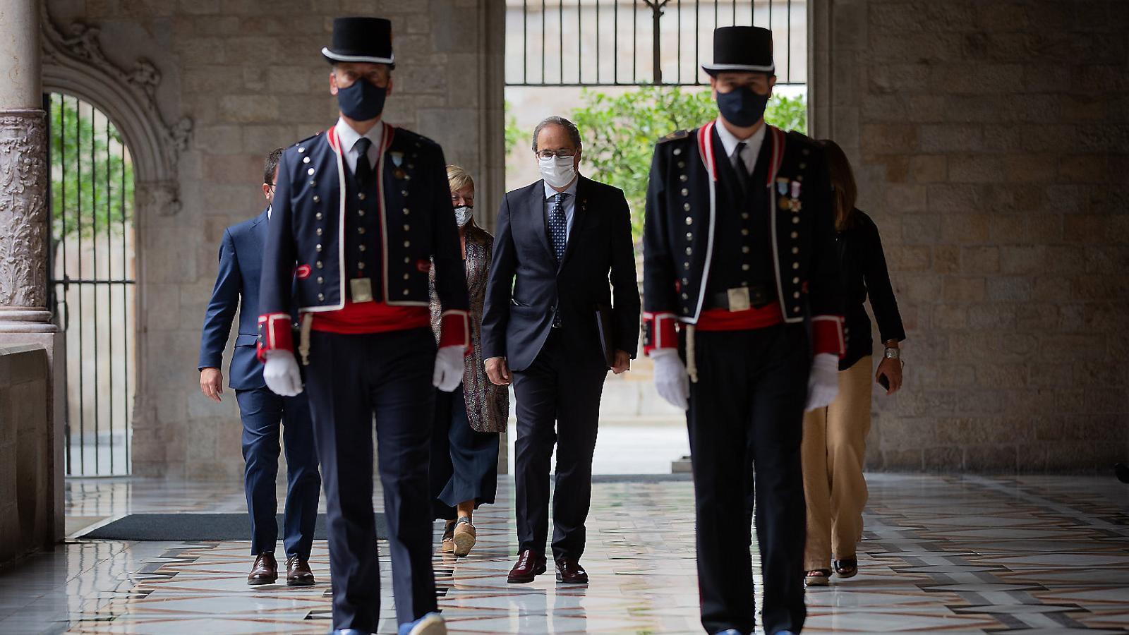 JxCat i ERC negocien el rol d'Aragonès