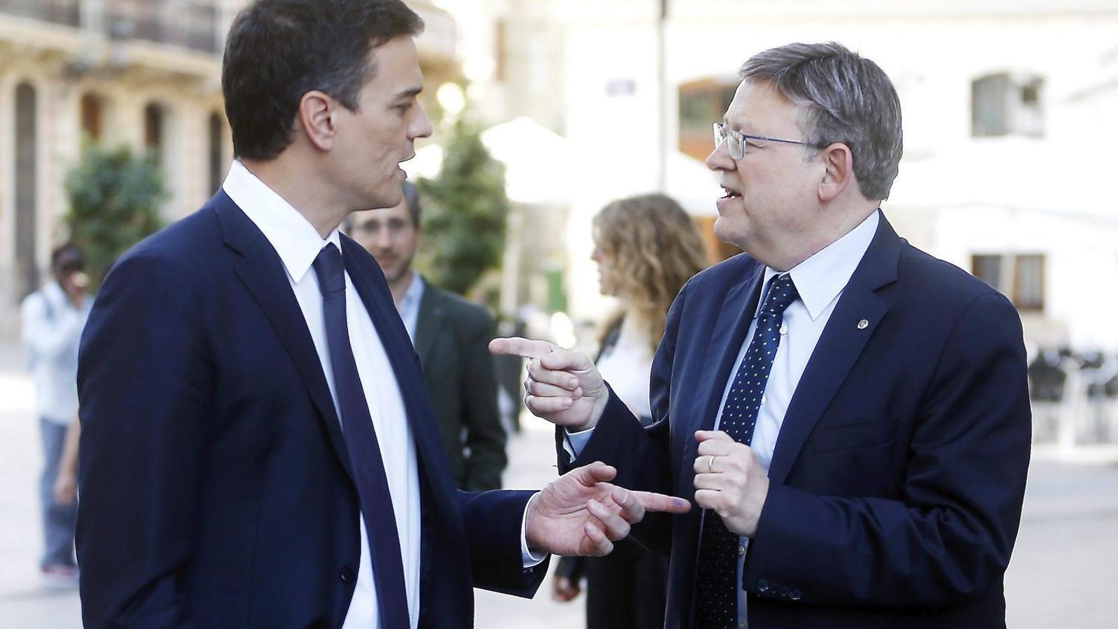 Sánchez i Puig es van veure ahir per primera vegada després que Ferraz impedís al PSPV anar en la llista al Senat amb Compromís i Podem.