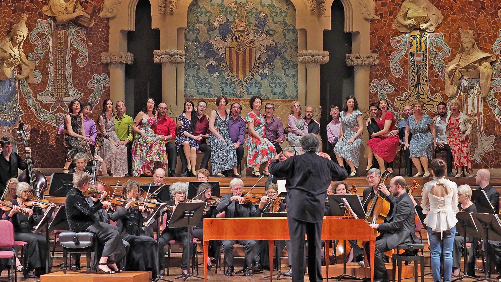 René Jacobs dirigint Così fan tutte. / A. BOFILL