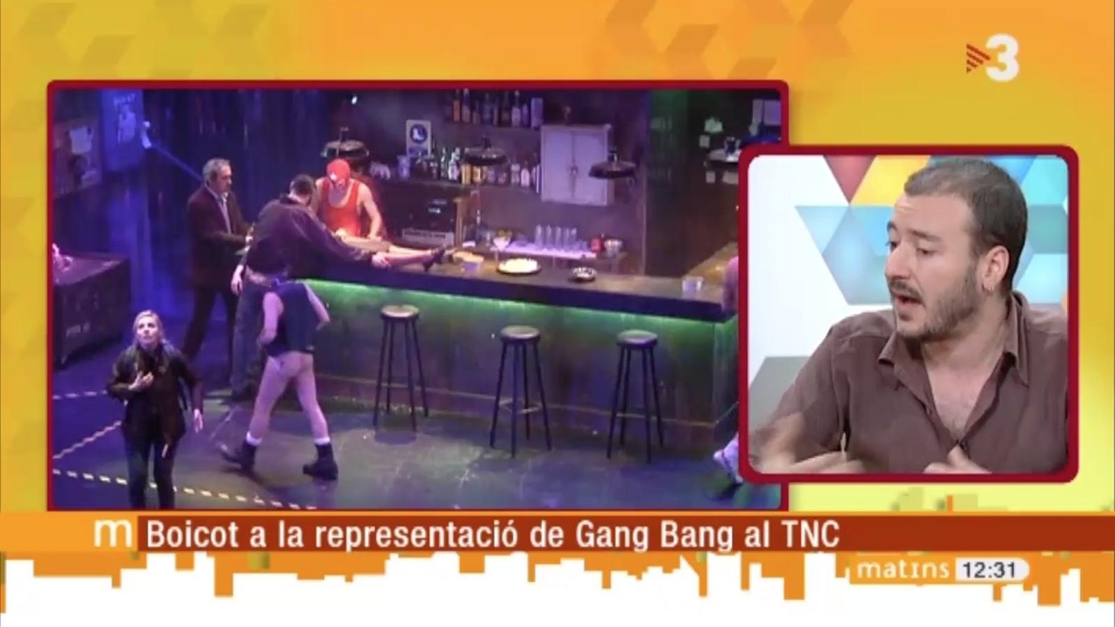 """Josep Maria Miró, director de 'Gang Bang': """"és un muntatge més poètic que polèmic"""""""