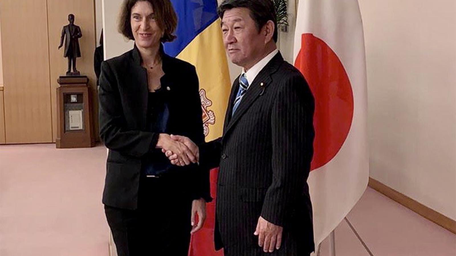 Ubach i el seu homòleg japonès Motegi. / SFG