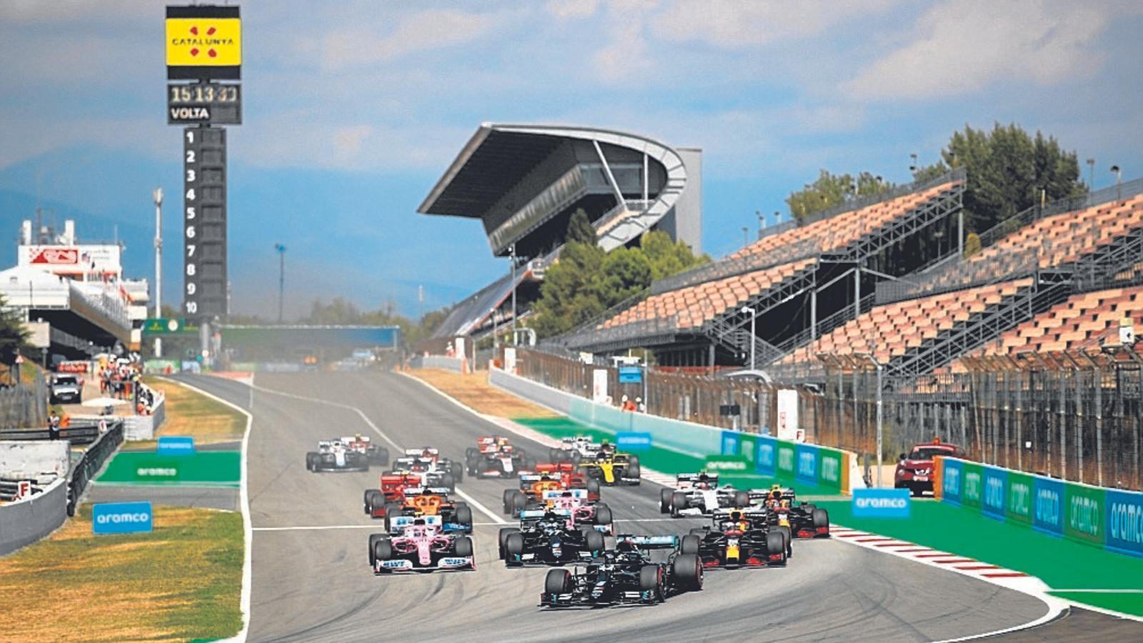 El Gran Premi de F-1 d'aquest any s'ha celebrat sense públic per culpa de la covid-19.