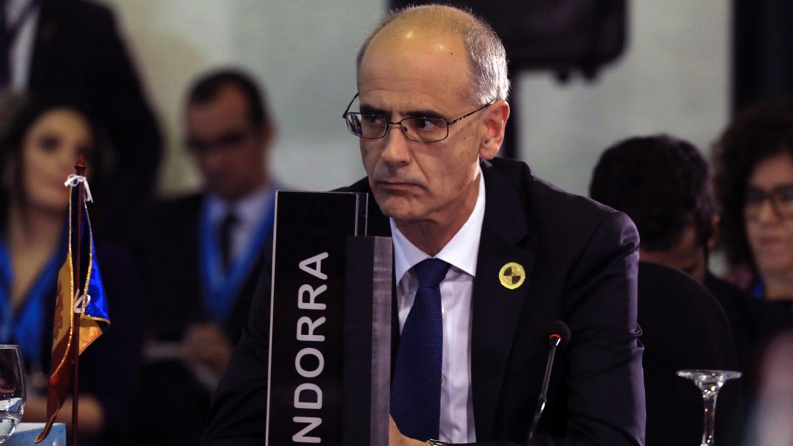 El cap de Govern, Toni Martí, aquest divendres. / SFG