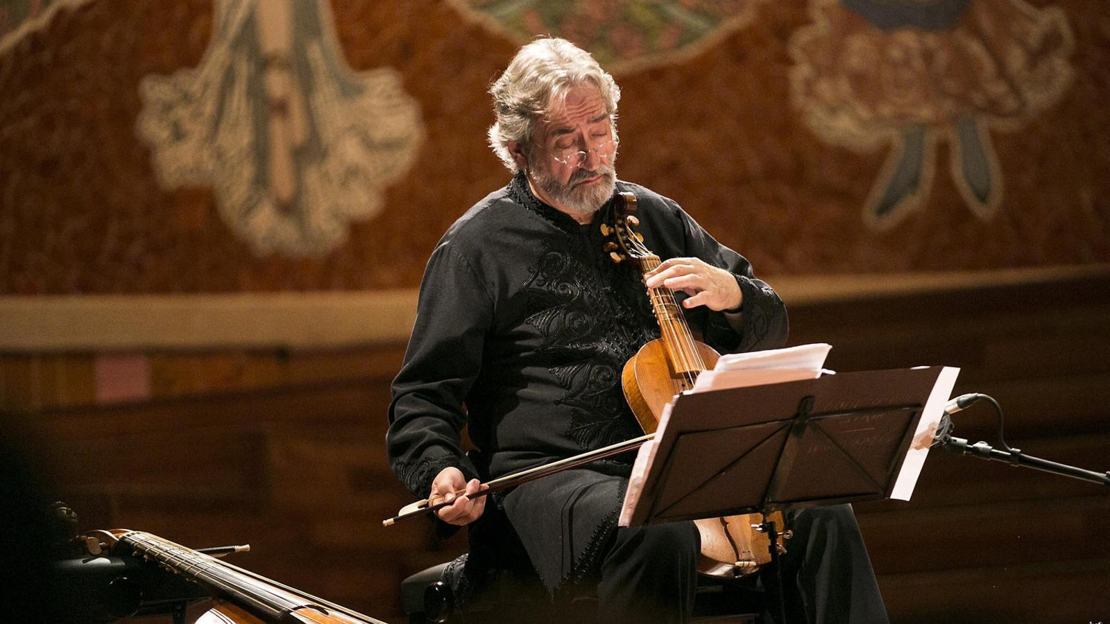 Jordi Savall en un concert al Palau de la Música. / CRISTINA CALDERER