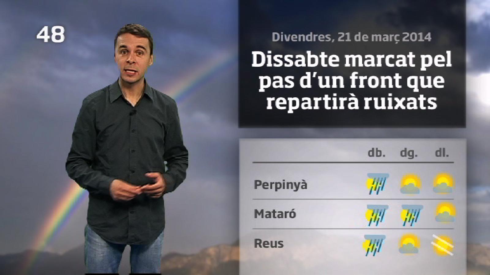 La méteo en 1 minut: Torna l'hivern (22/03/2014)