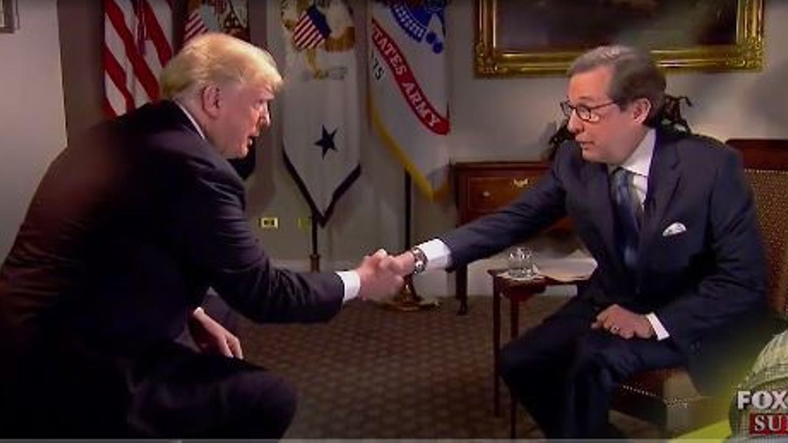 Entrevista de Trump a Fox News, diumenge 18 de novembre.
