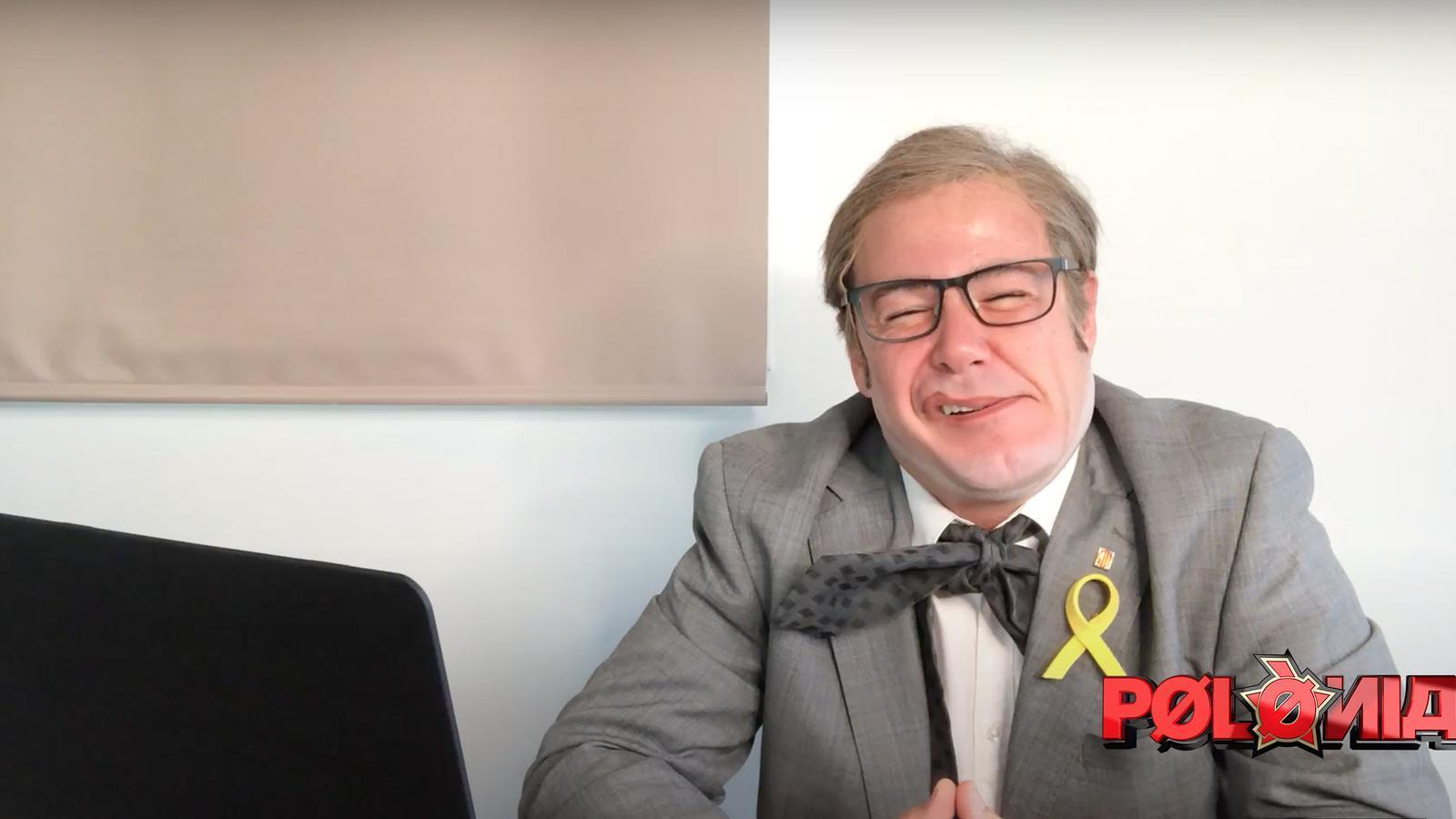 Ivan Labanda caracteritzat com a Quim Torra a 'Polònia'