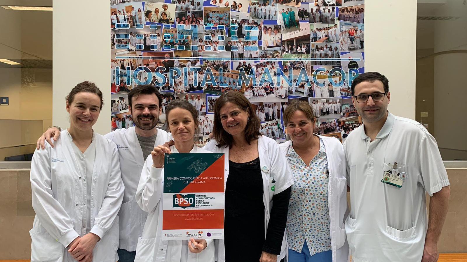 Membres de l'equip que treballa en els projectes d'excel·lència en cures.