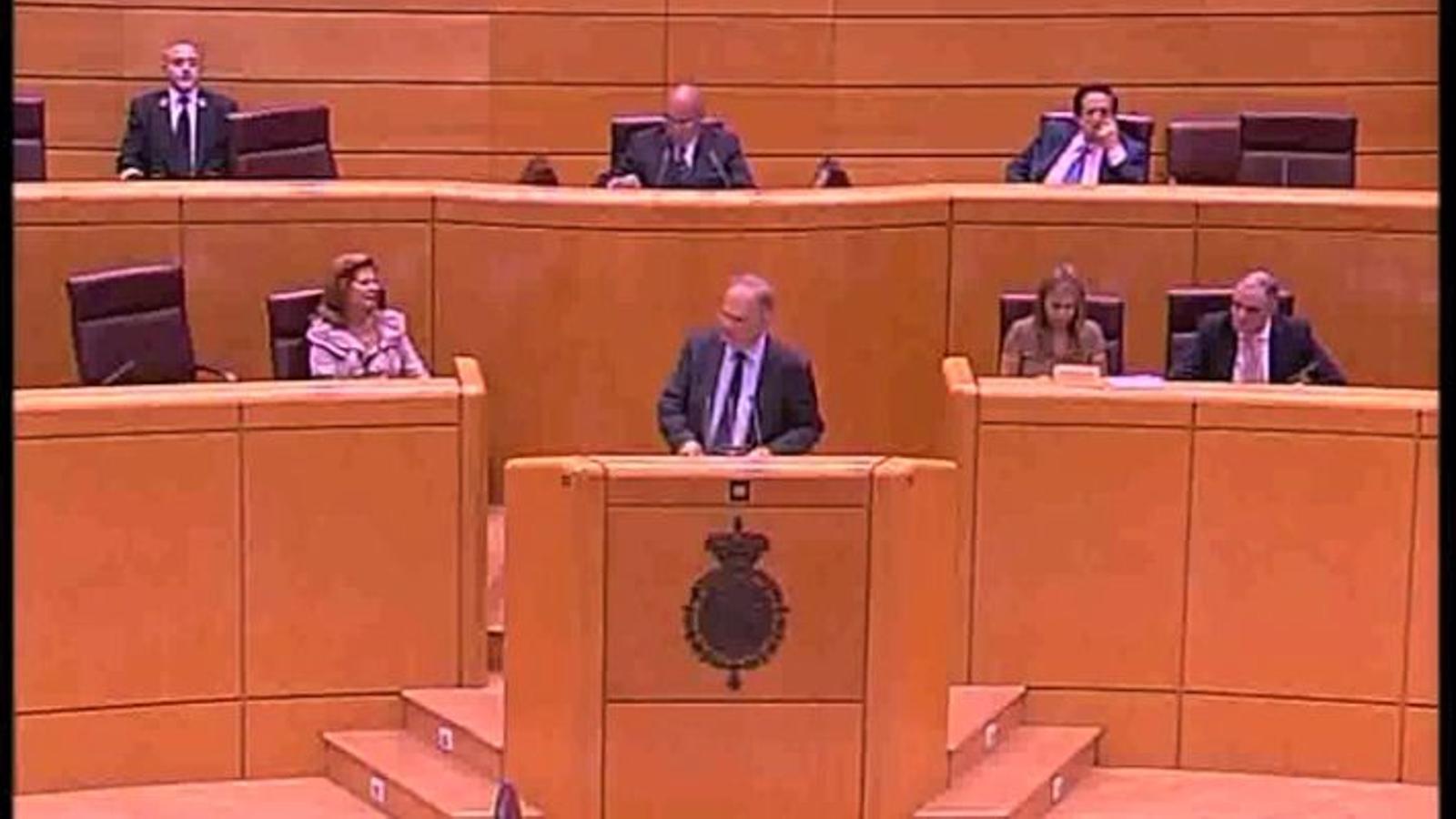 ERC intenta parlar en català al Senat i el president de la cambra adverteix que el reglament no ho permet