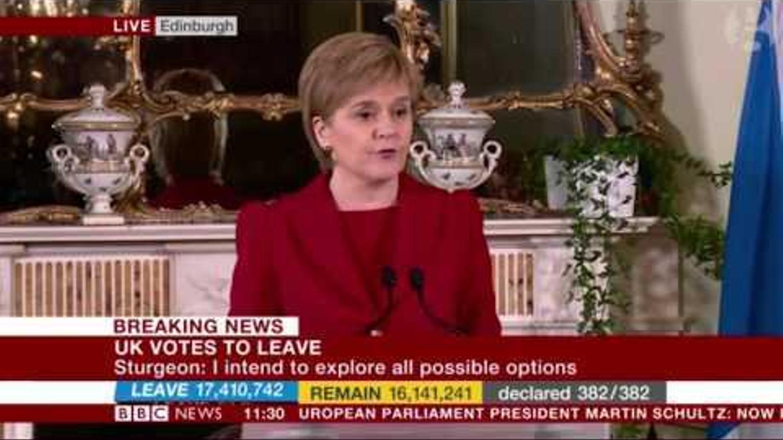 El discurs post-'Brexit' de Nicola Sturgeon.