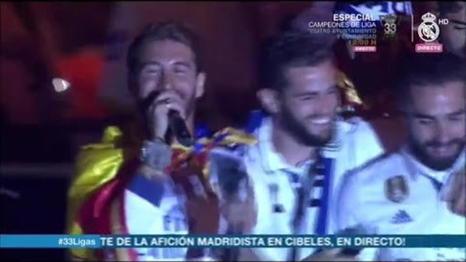 """""""Piqué, cabró, saluda el campió"""": així ha estat la celebració de Lliga del Madrid"""