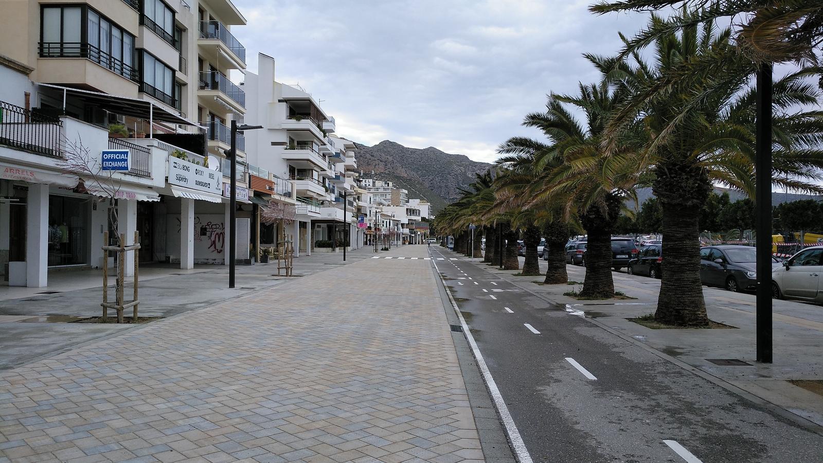 Finalitzades les obres del primer tram del passeig del Port de Pollença