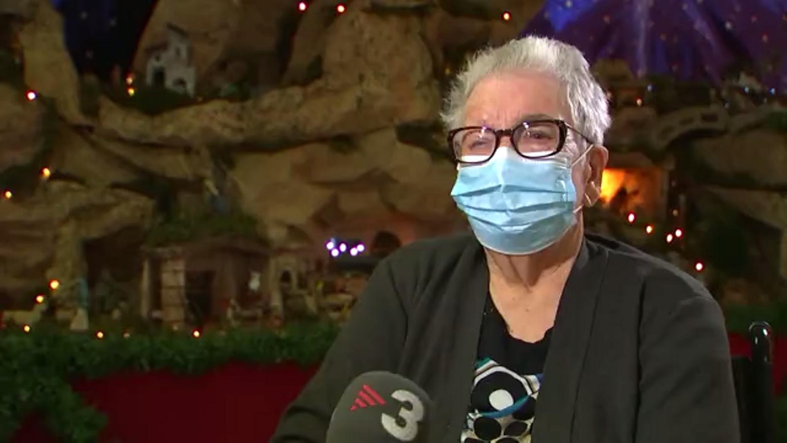 Josefa Pérez, de 89 anys, la primera vacunada de covid-19 a Catalunya
