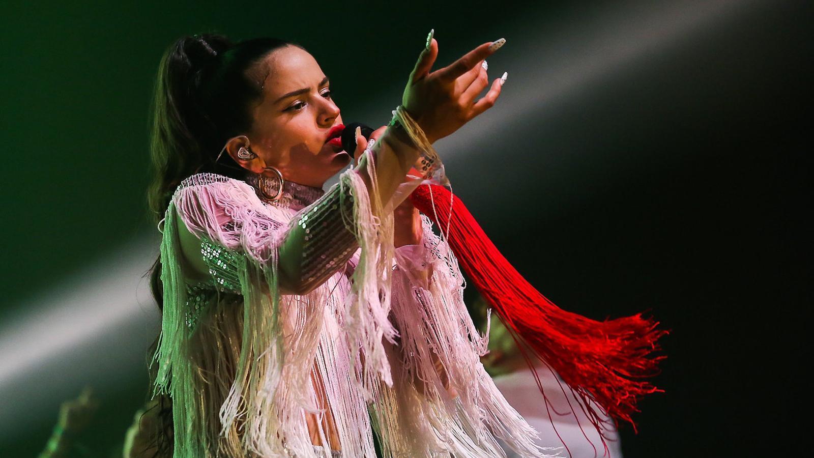 Rosalía durant el concert al Sónar 2018