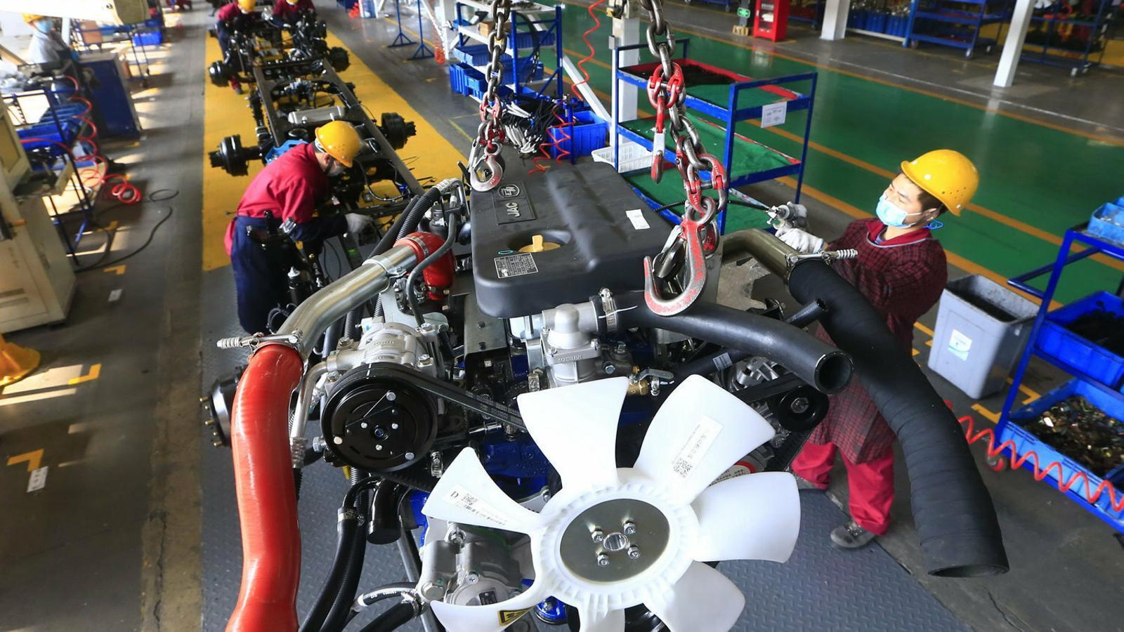 El 60% del treballadors de l'empresa xinesa fabricant d'automòbils JAC Motors han tornat a la feina.
