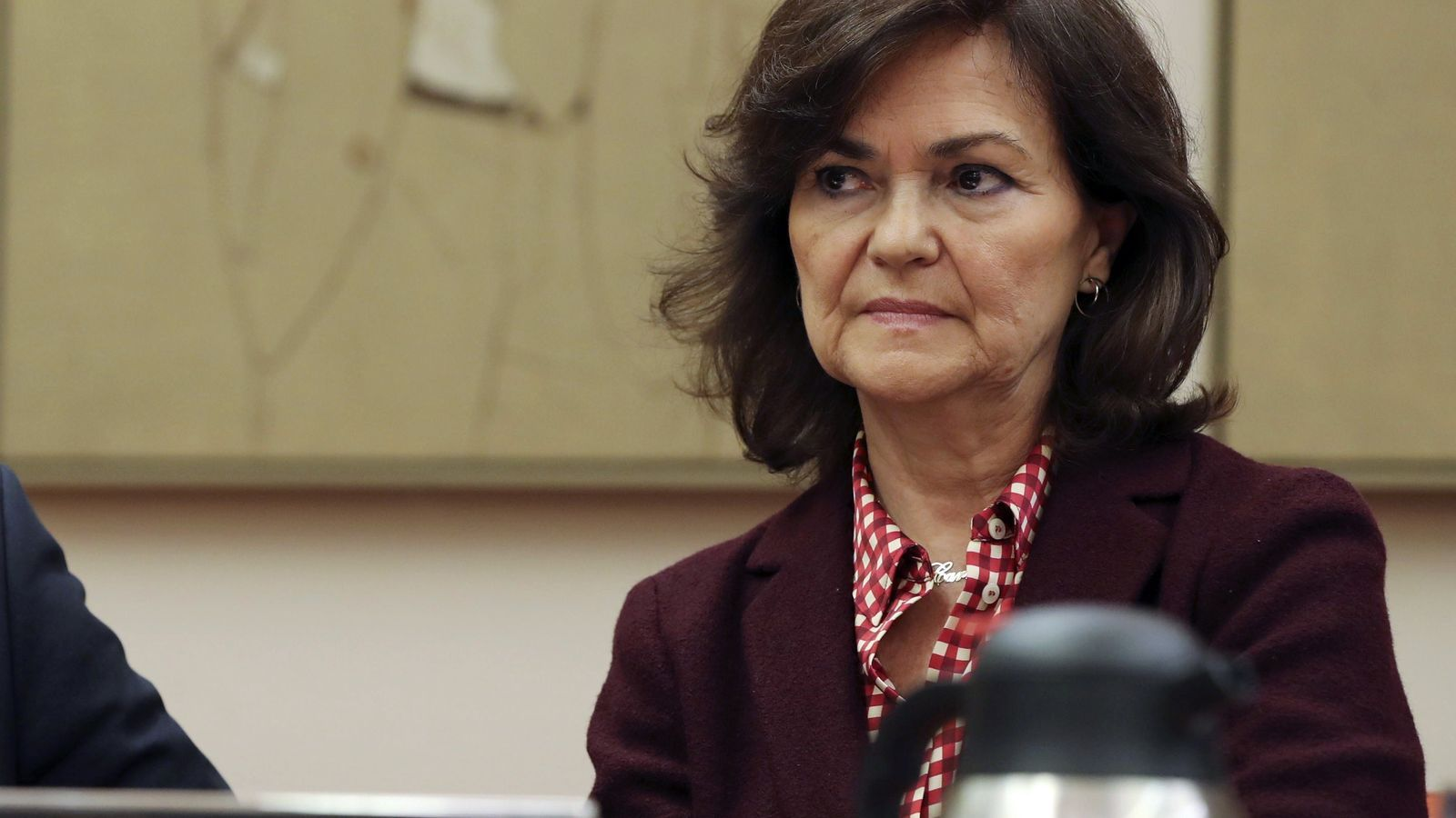 La vicepresidenta del govern espanyol, Carmen Calvo, en una imatge d'arxiu