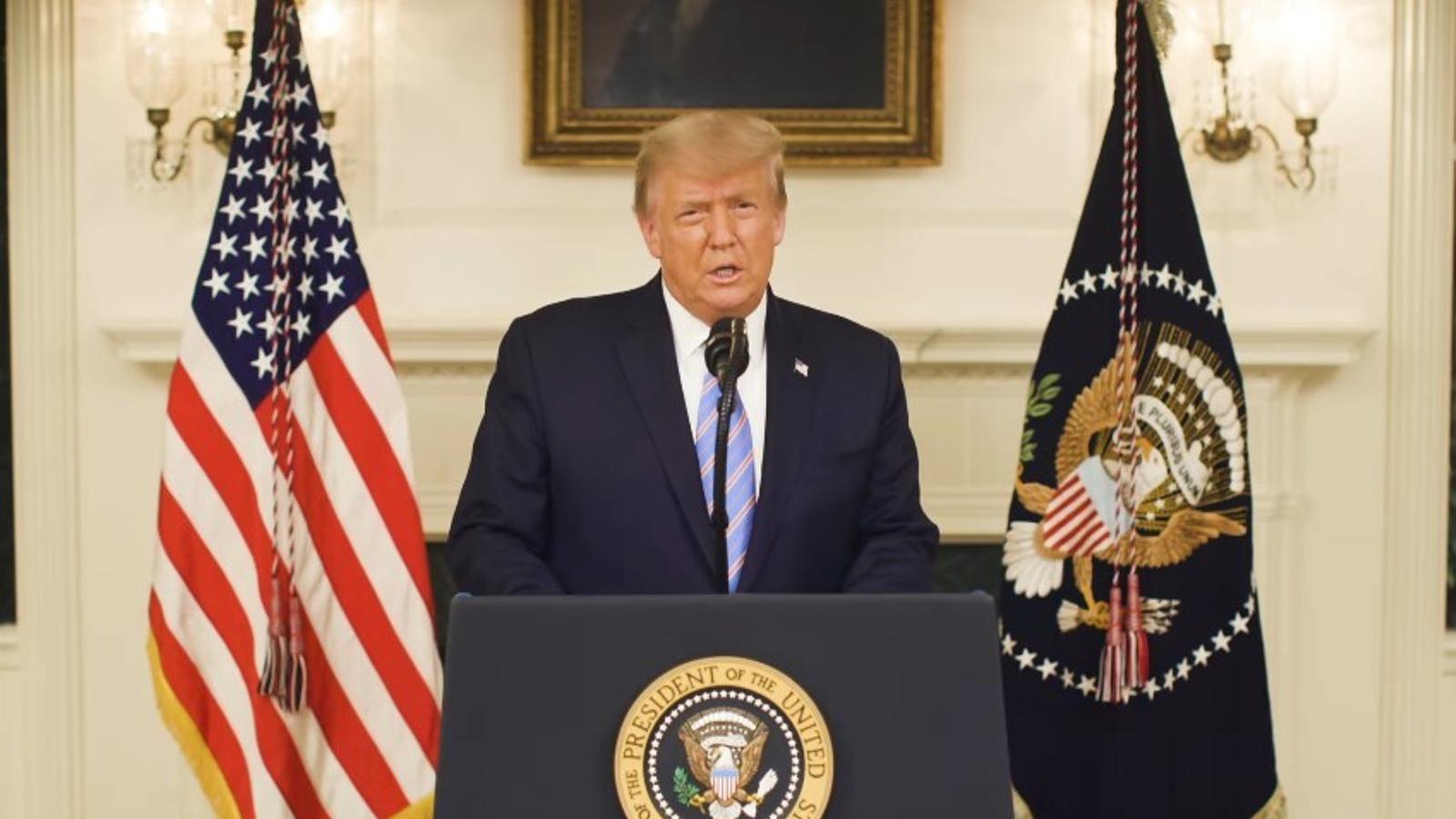 Trump condena el asalto al Capitolio y reconoce la victoria de Joe Biden