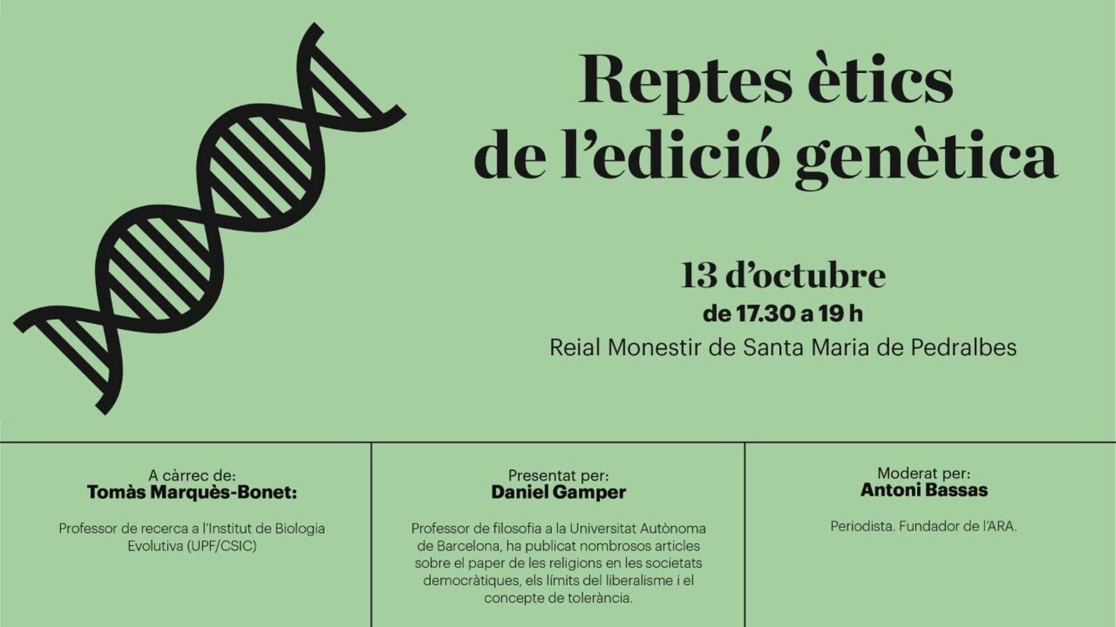 EN DIRECTE | Diàlegs de Pedralbes: reptes ètics de l'edició genètica