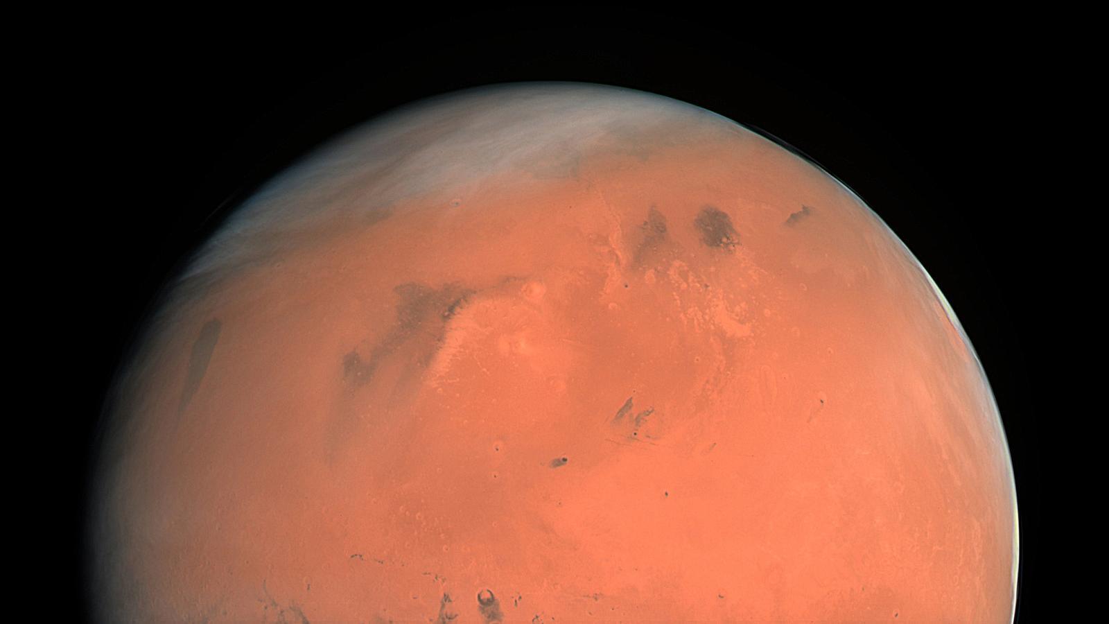 Imatge del color vertader de Mart, presa al febrer de 2007 per l'instrument OSIRIS de la sonda espacial Rosetta