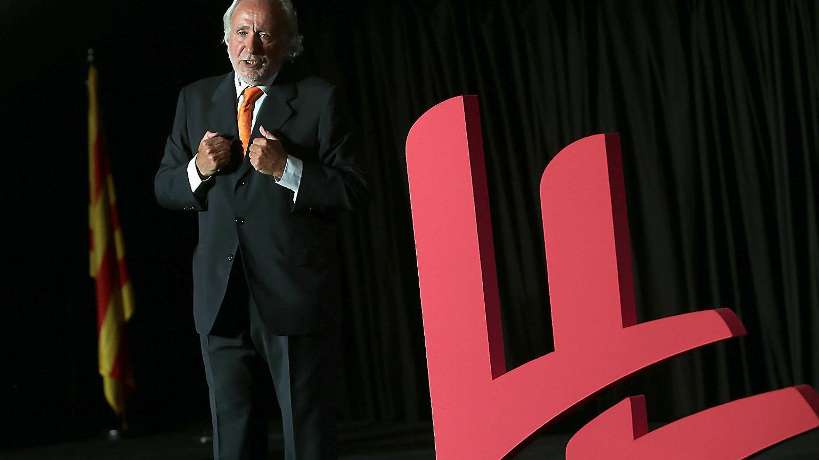 El president de Lliures, Antoni Fernàndez Teixidó, ahir en l'acte de presentació del nou partit.