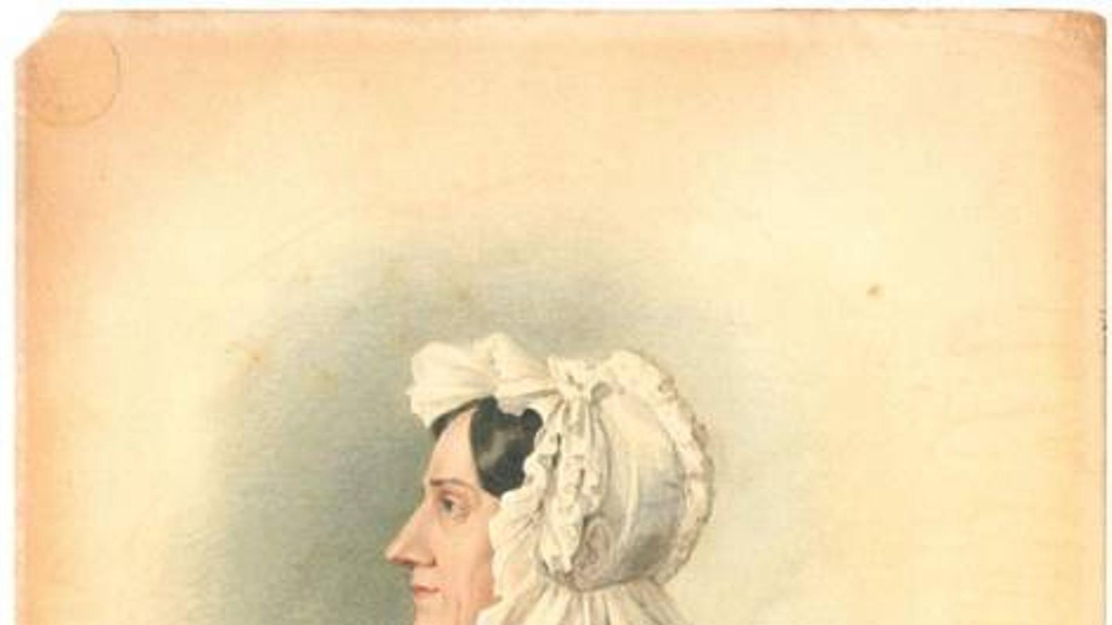 Nannette Streicher en un dibuix de Ludwig Krones, 1836