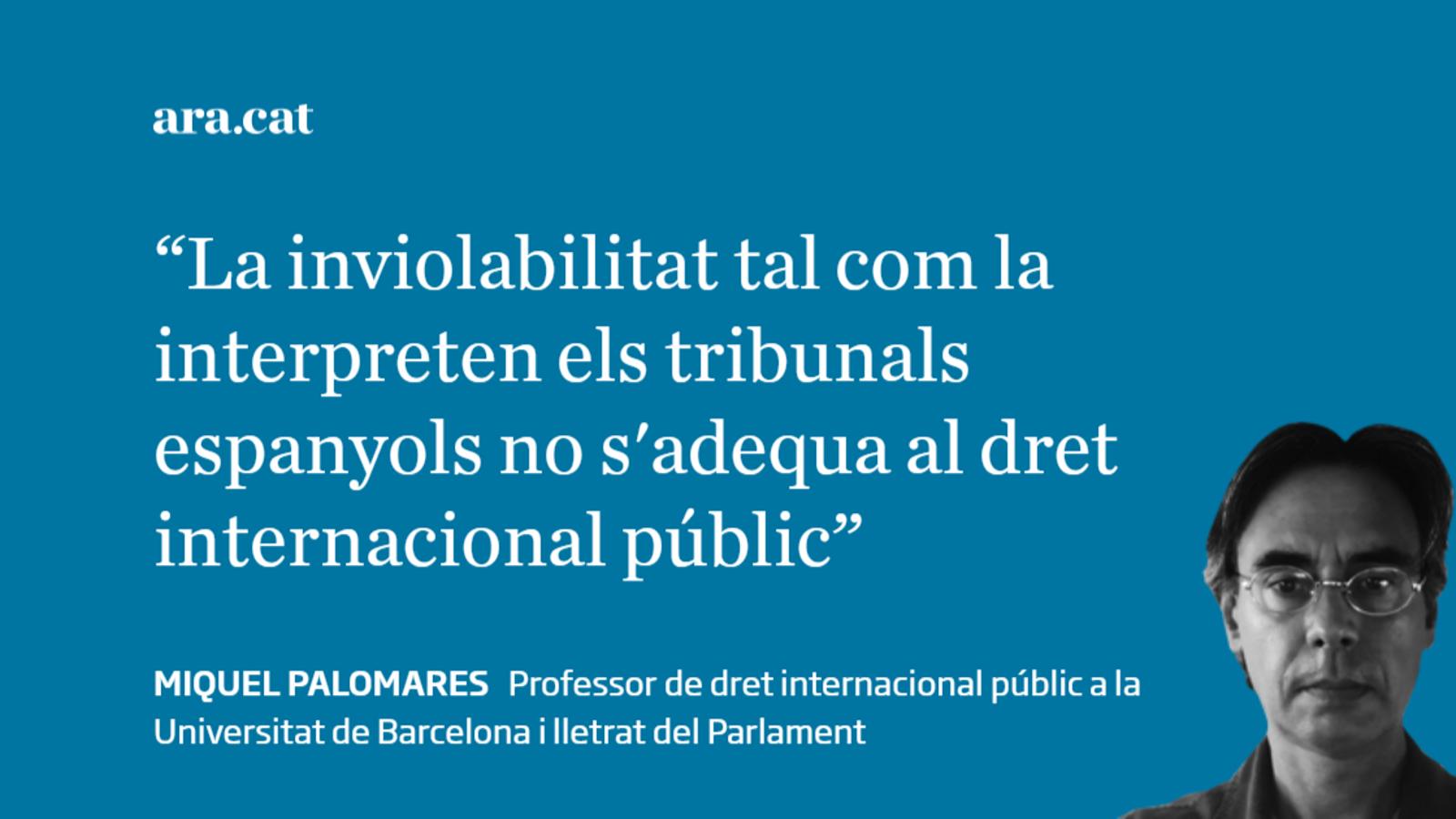 La inviolabilitat del rei i el dret internacional