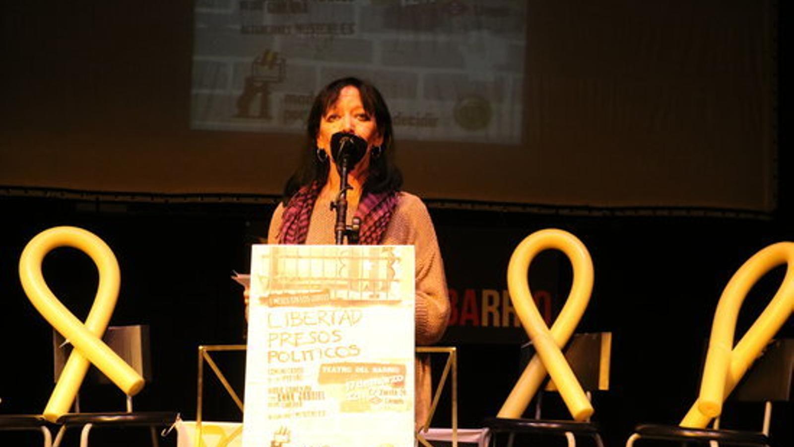 La presentadora de l'acte de 'Madrileños por el derecho a decidir', Pilar Parrilla