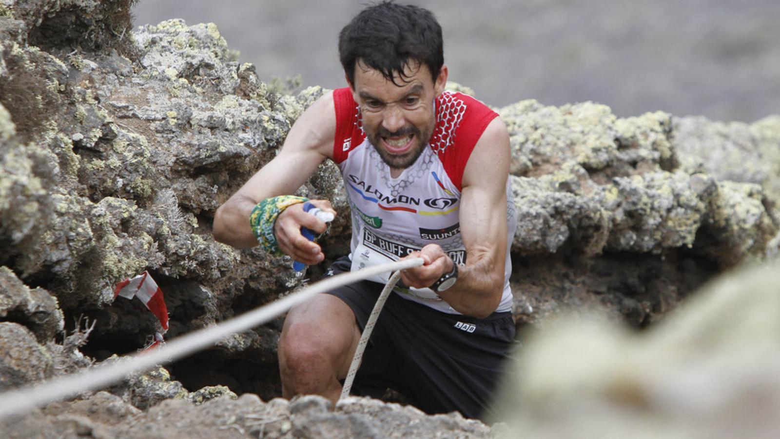 Foto d'arxiu de Tòfol Castanyer en una cursa de muntanya