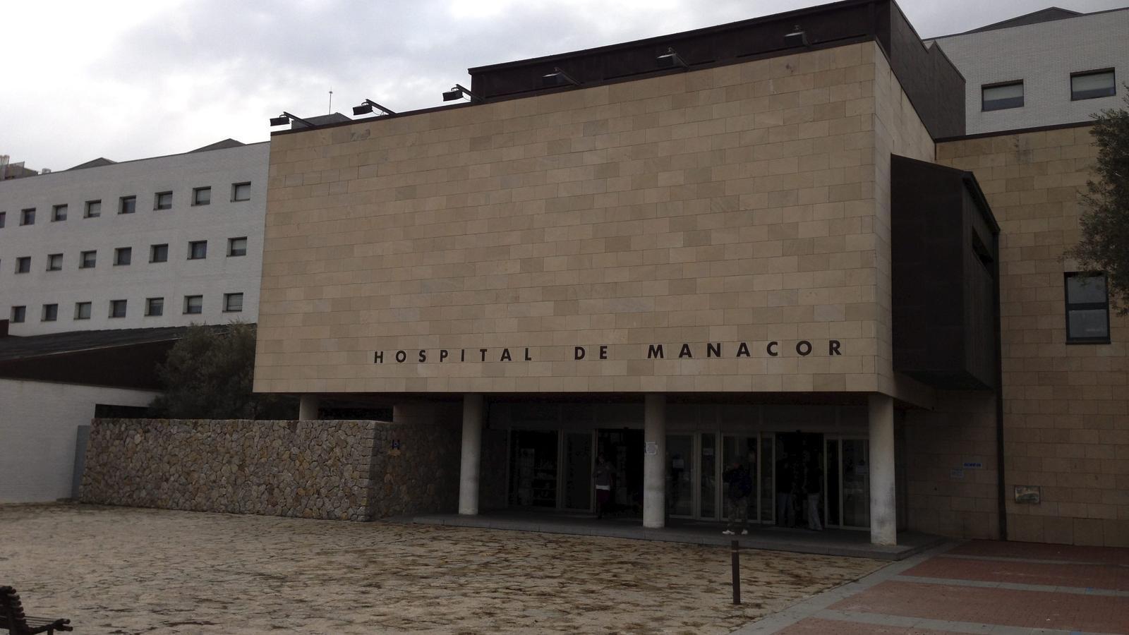 L'entrada a l'hospital de Manacor.