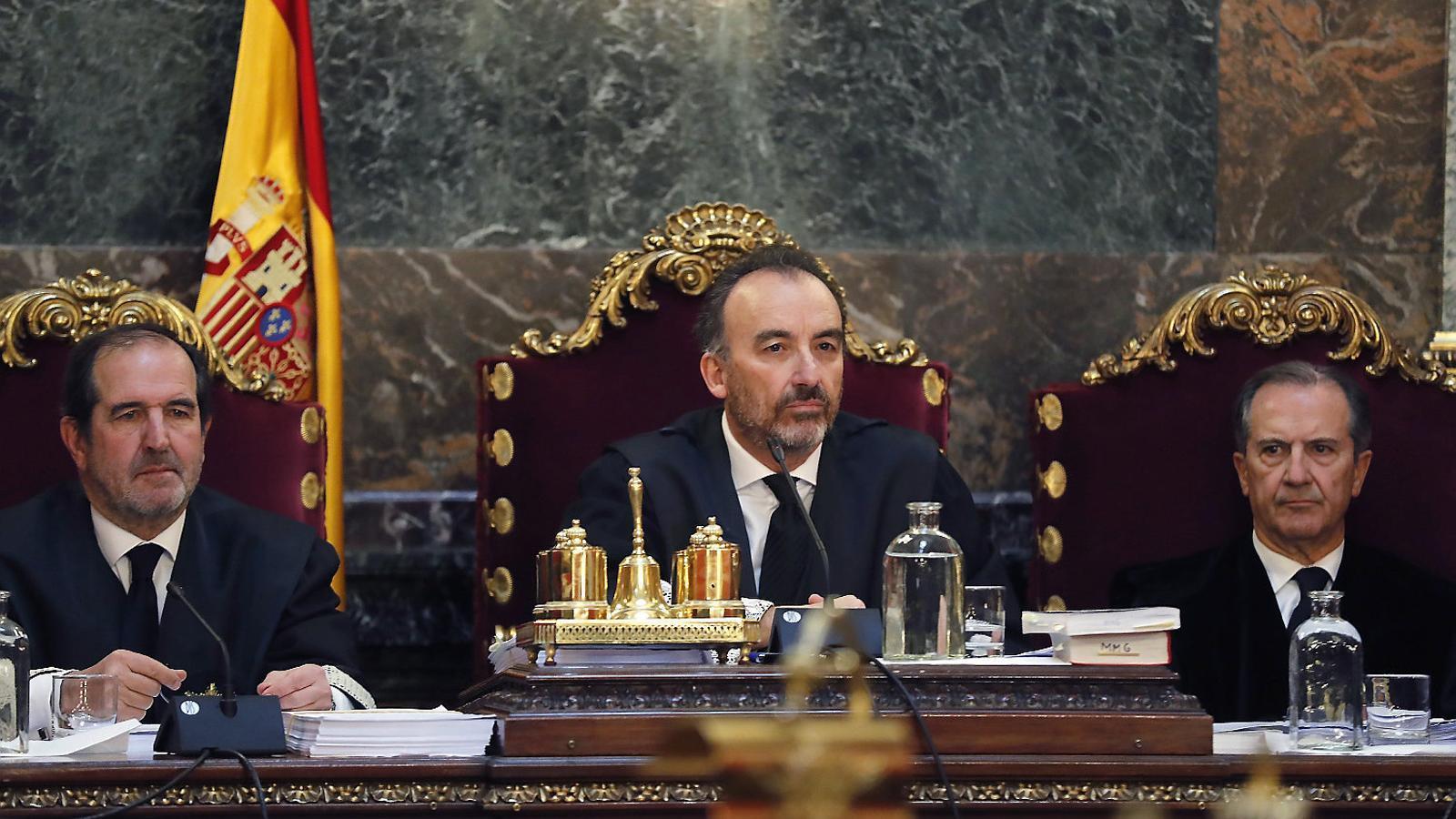 El president del tribunal que jutjarà l'1-O, Manuel Marchena, en una imatge d'arxiu.