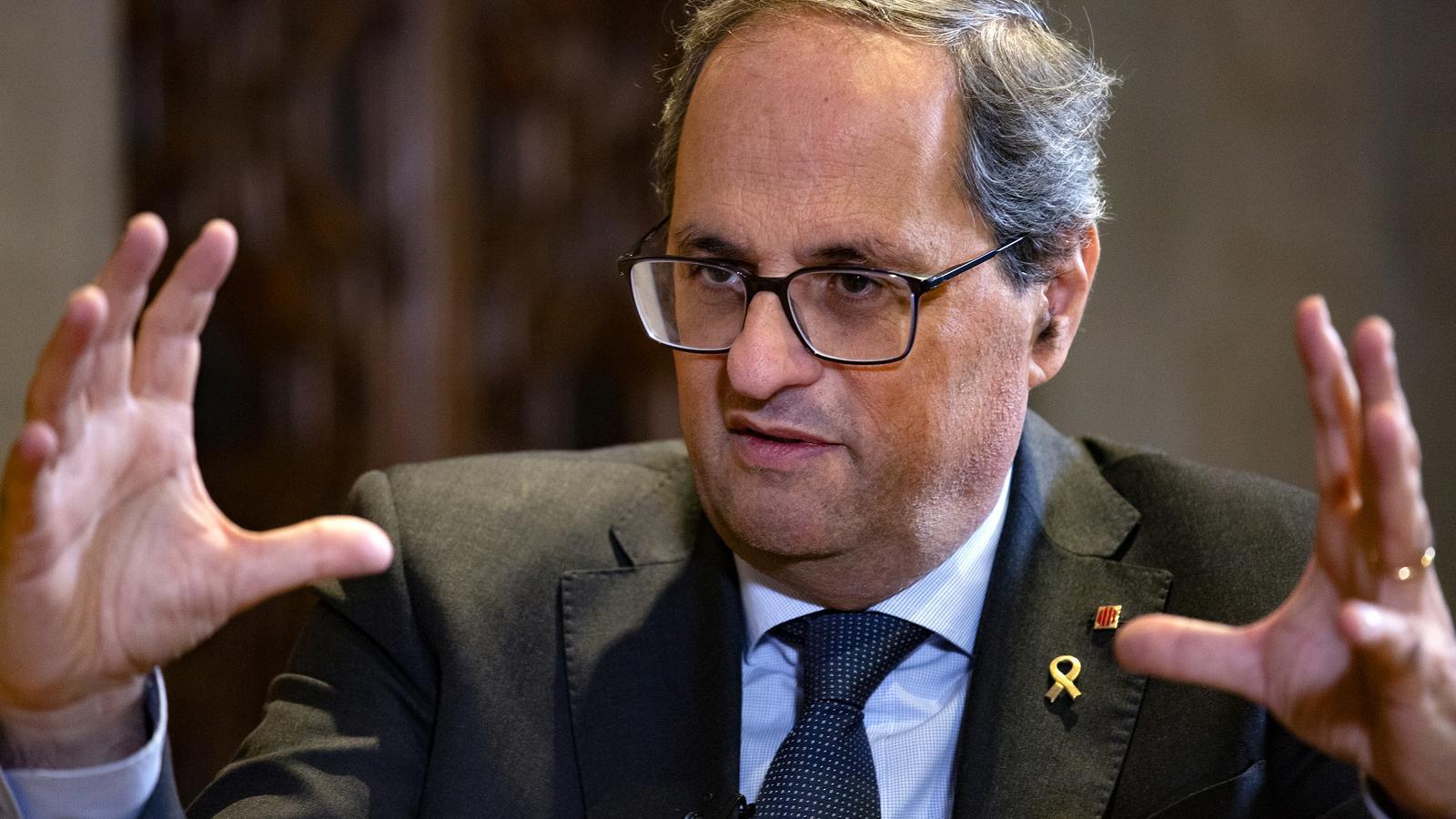 Torra envia una carta a les autoritats europees per reclamar el confinament total de Catalunya