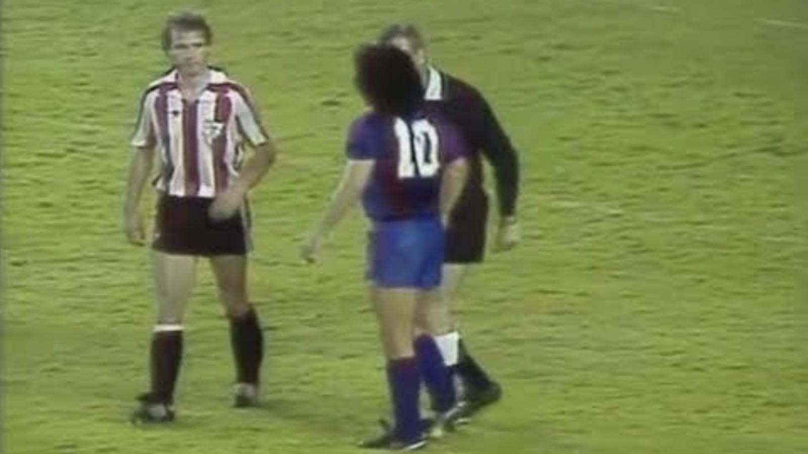 Final de la Copa del Rey del 1984, última jugada de Maradona al Barça