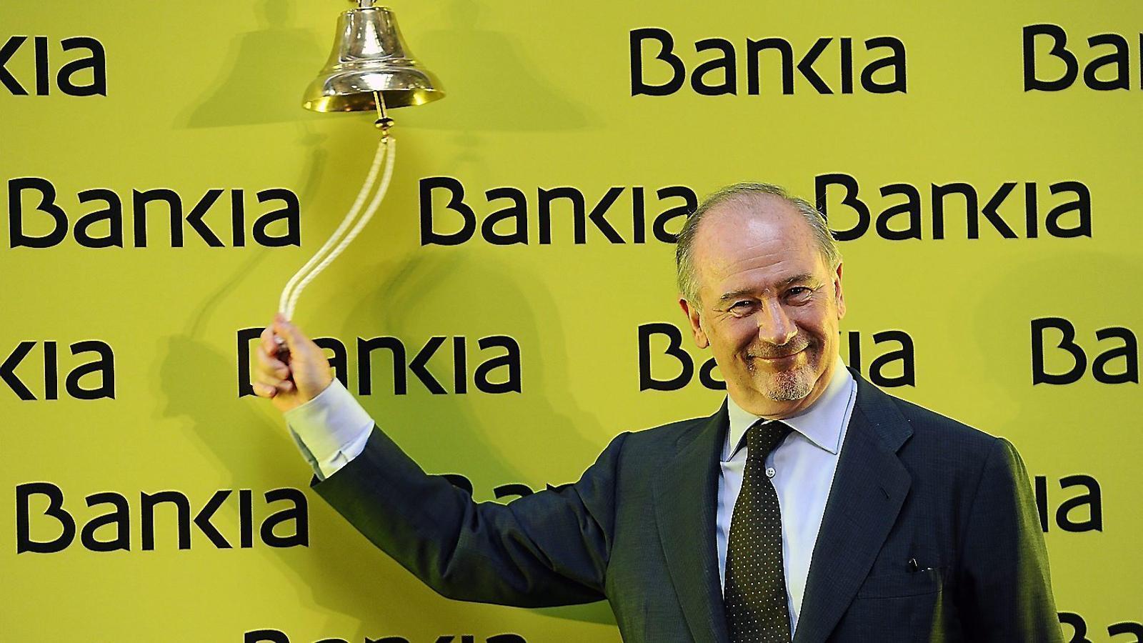 Rodrigo Rato va pilotar Bankia entre el 2010 i el 2012, i era el president de l'entitat quan va sortir a borsa el 20 de juliol del 2011.