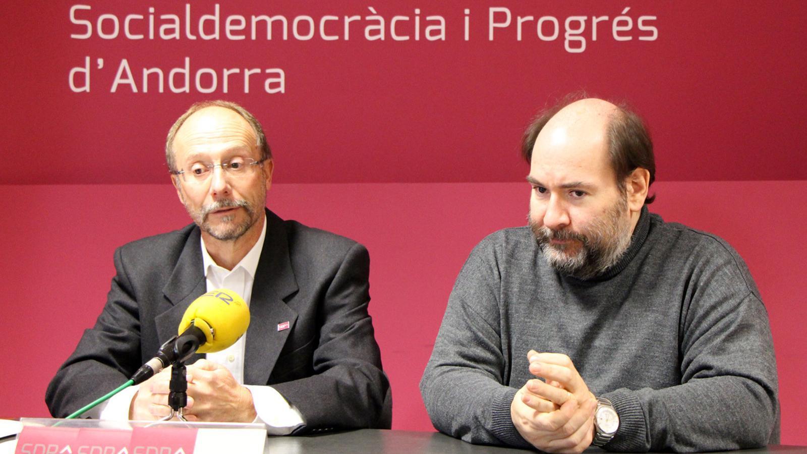 Víctor Naudi i Joan Marc Miralles, conseller general i secretari d'organització d'SDP
