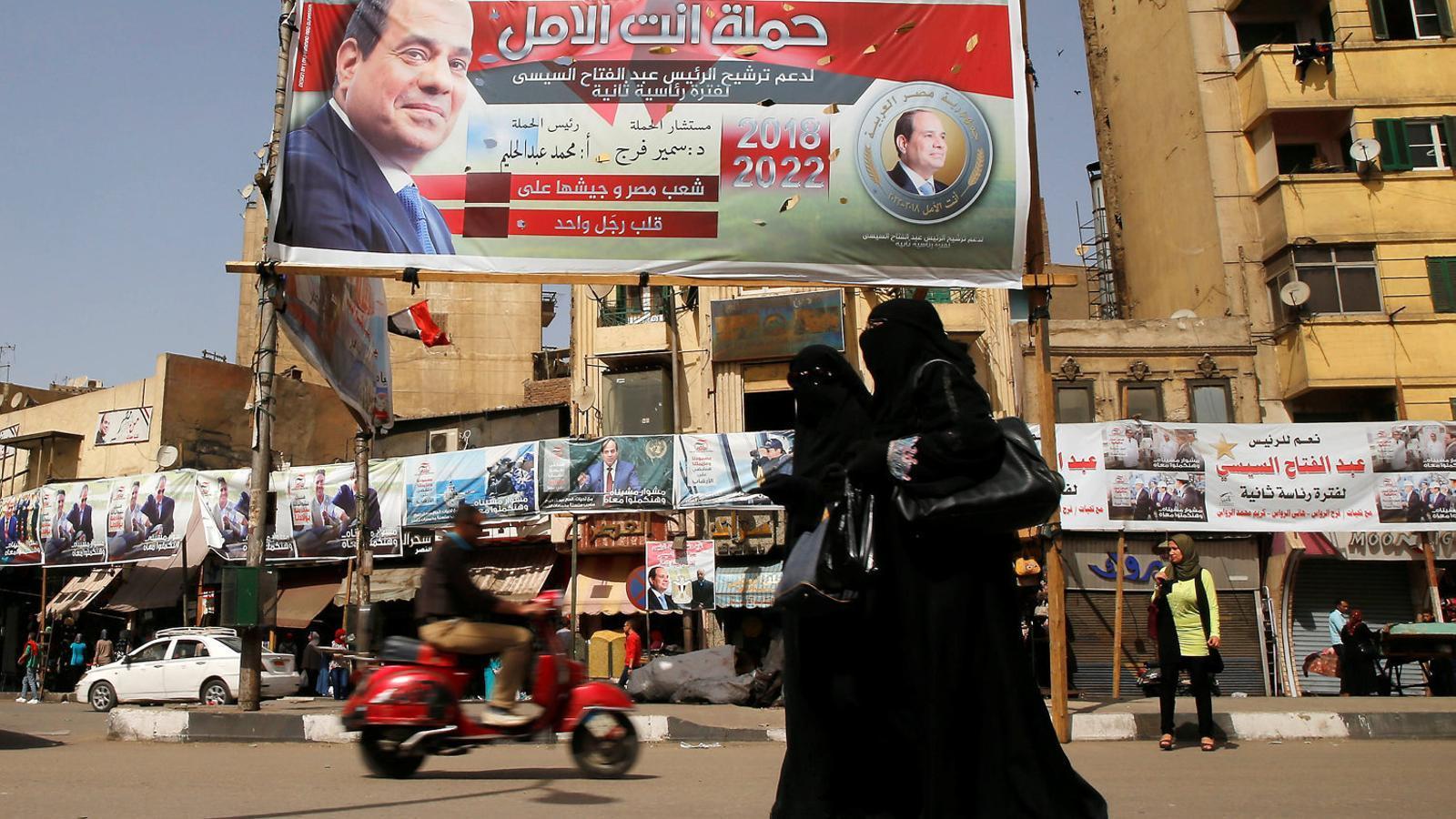 Al-Sissi pretén conservar el seu poder a Egipte amb una farsa electoral