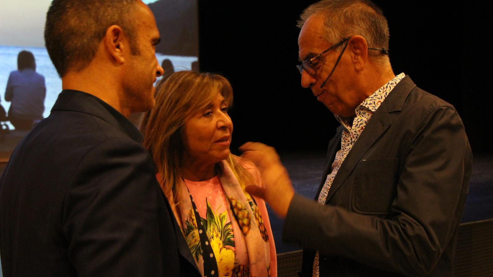 Jaume Funes amb Conxita Marsol, cònsol Major d'Andorra la Vella. / M. R. F.