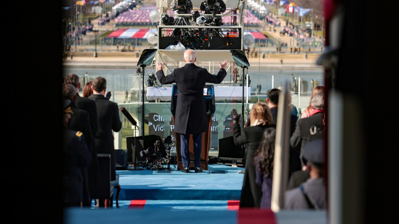 El president dels Estats Units Joe Biden dóna el seu discurs d'investidura Capitoli dels Estats Units a Washington