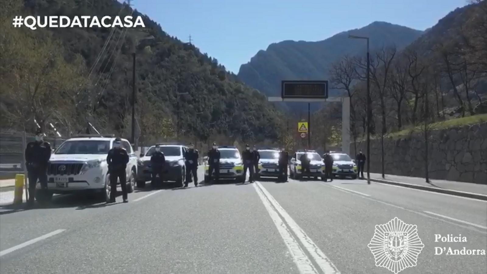 Efectius policials destinats per fer controls a les carreteres