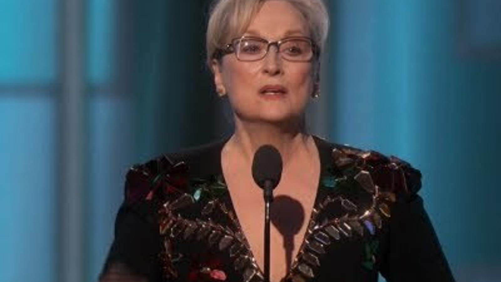 Fragment del discurs de Meryl Streep als Globus d'Or