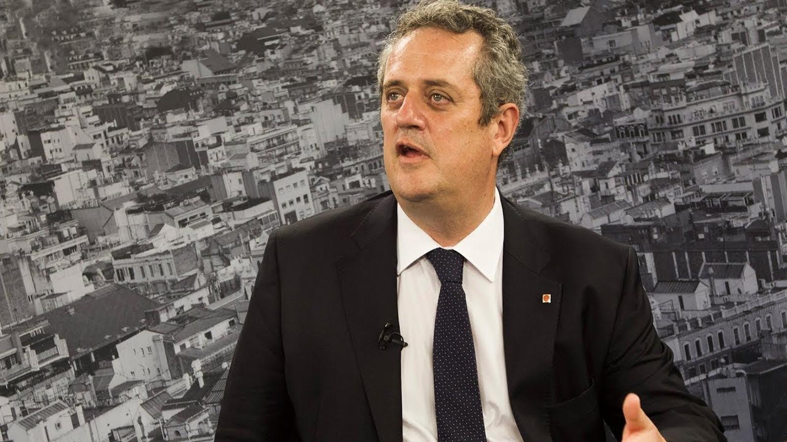 """Joaquim Forn: """"Una de les feines dels Mossos es que la gent pugui votar amb llibertat i seguretat"""""""