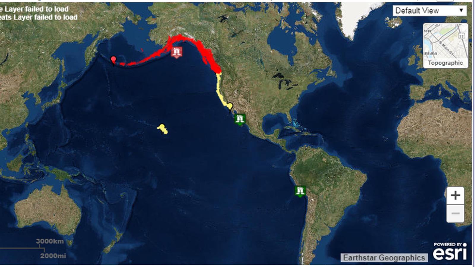 El tsunami podria impactar la costa canadenca i nord-americana del Pacífic
