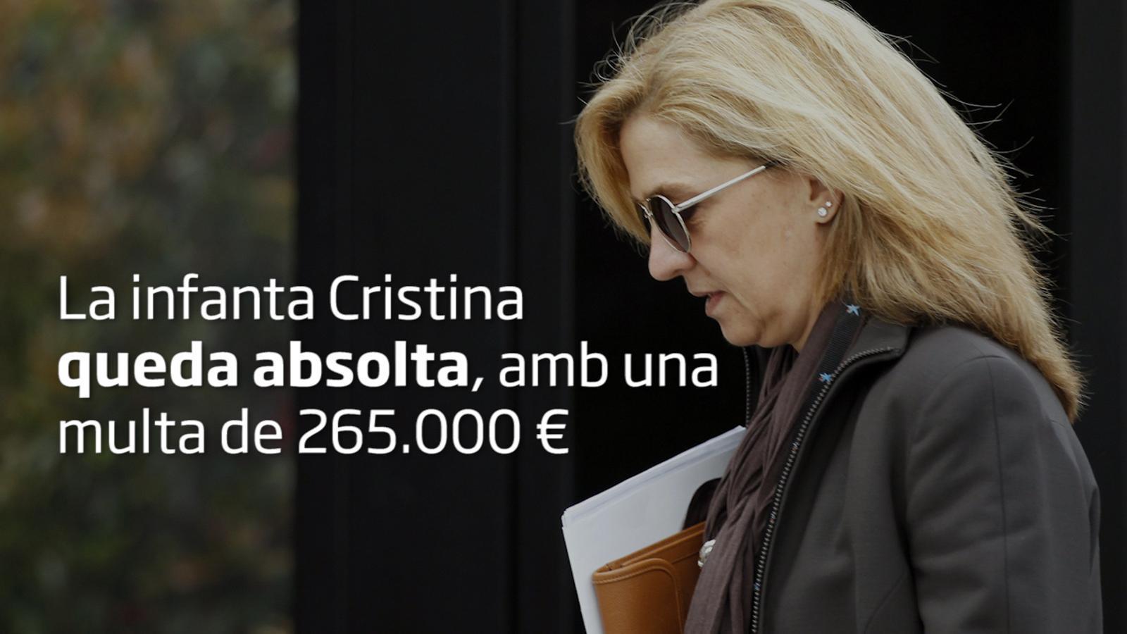El tribunal absol la infanta Cristina, però condemna a 6 anys de presó Urdangarin