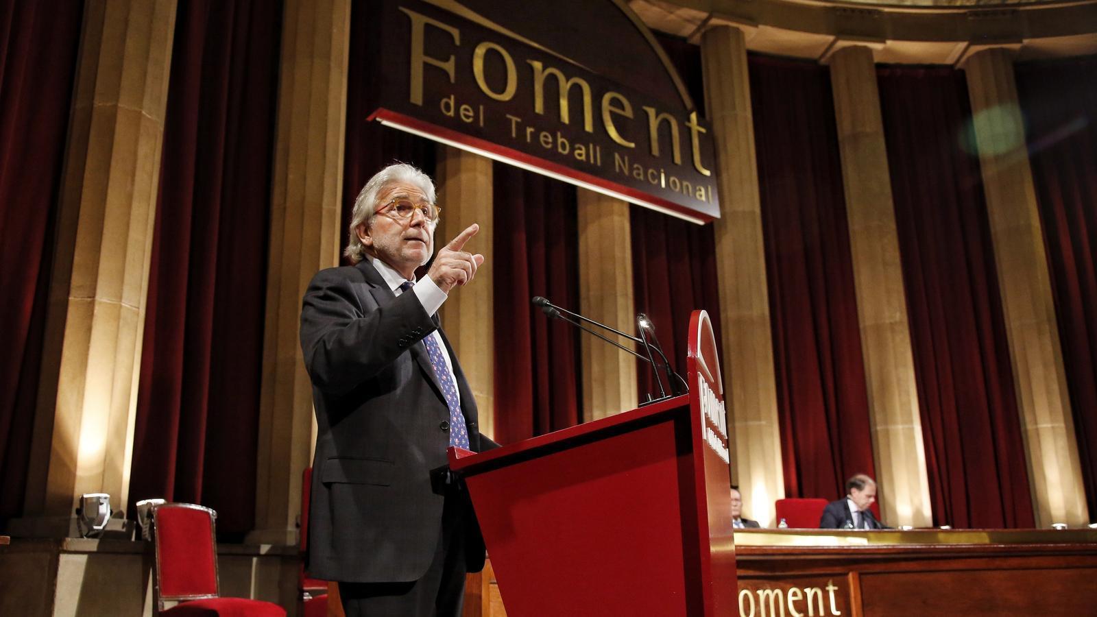 El nou president de Foment, Josep Sánchez Llibre