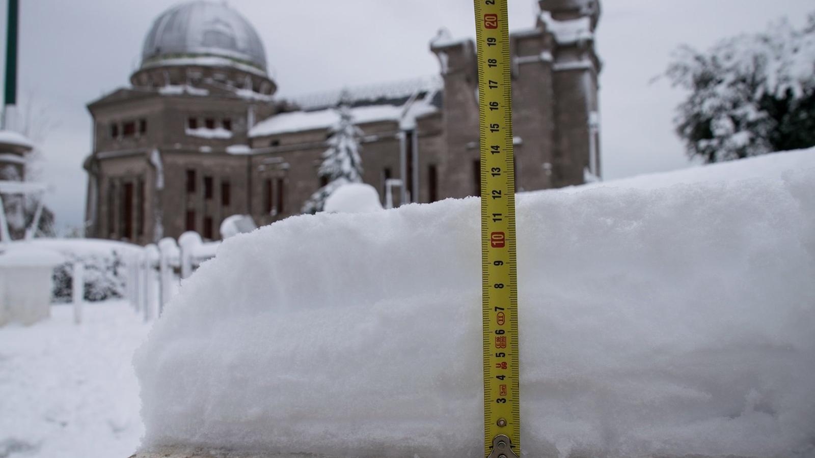 Una nevada històrica al Tibidabo, però no la més tardana