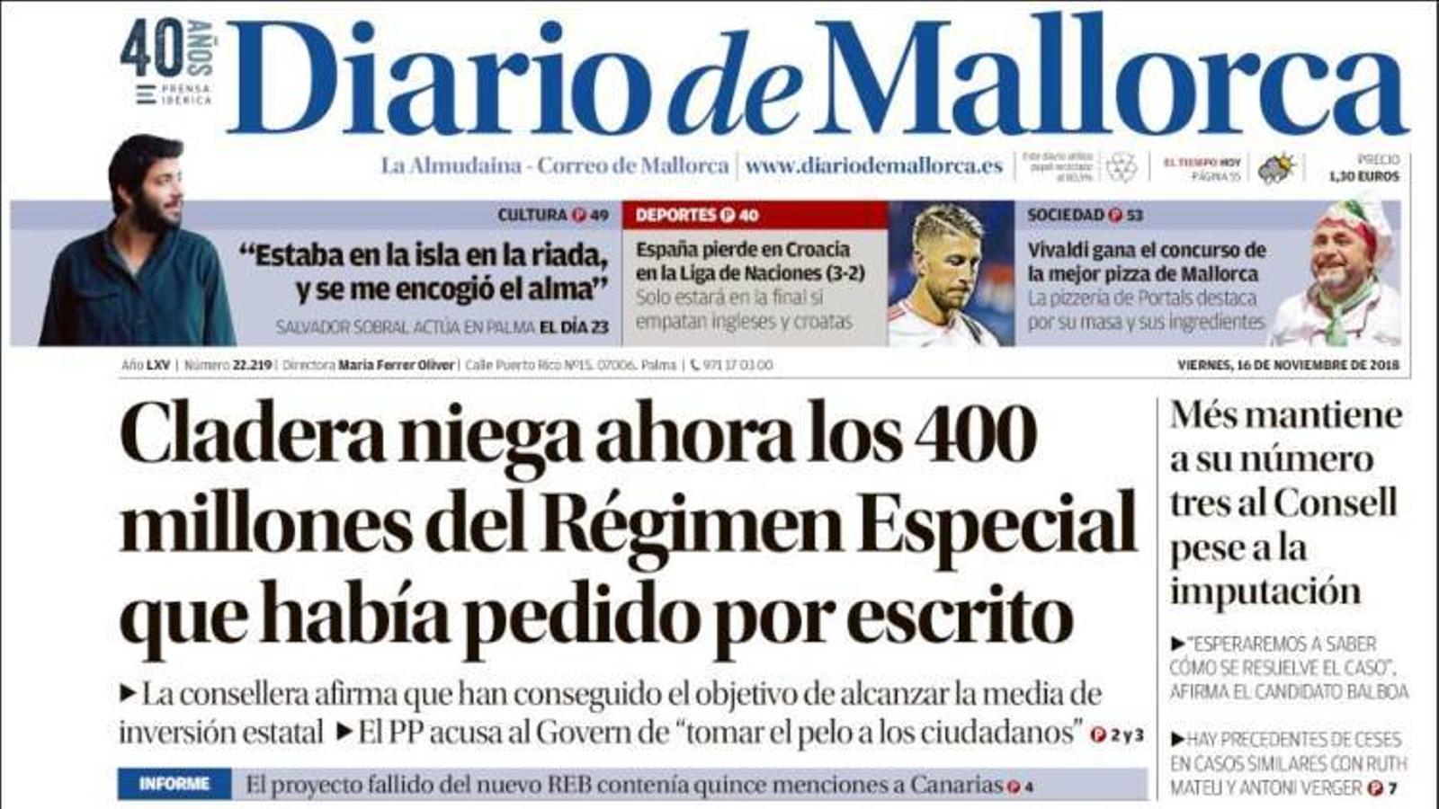 """""""Èxode de jutges a Catalunya: 43 deixen la seva plaça en un any"""", a la portada de 'La Razón'"""