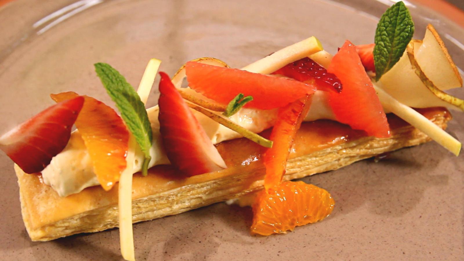 Pasta de full amb fruita