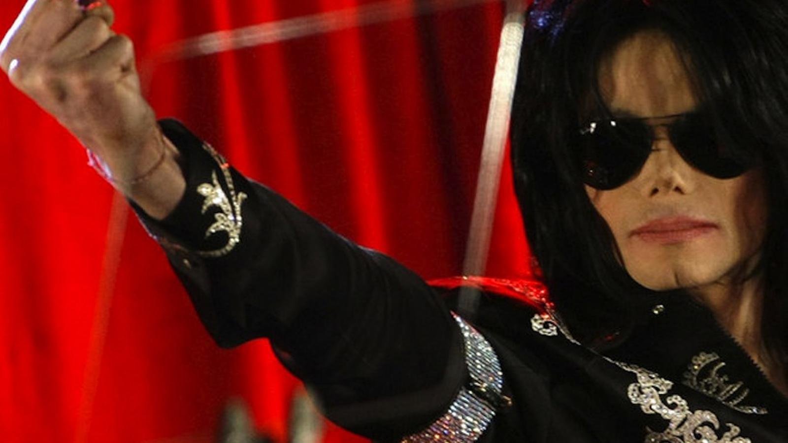 Michael Jackson, a la presentació de la gira 'This is It'
