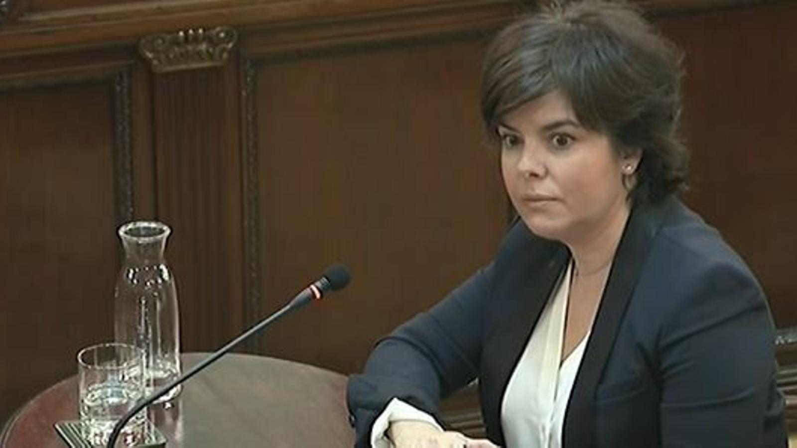 """Santamaría fa seu el relat de la Fiscalia i responsabilitza el Govern de la """"violència"""" de l'1-O"""