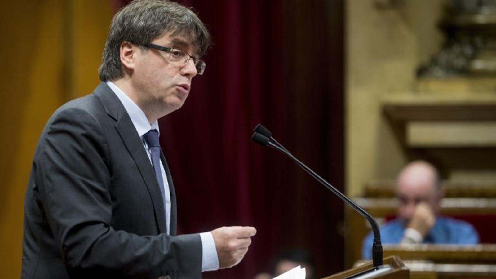 Carles Puigdemont explica al Parlament la remodelació del Govern